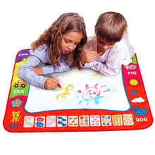 Water Toys Doodle Mat With Play Pen EVA Rubber Crafts Magic Water Drawing Aqua Mat Arts And Crafts For Kids