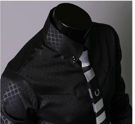 Camisa de moda para hombre para hombre Ropa de marca Slim Fit Hombre - Ropa de hombre - foto 5