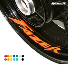 8 X CUSTOM INNER RIM DECALS WHEEL Reflective STICKERS STRIPES FIT YAMAHA FAZER