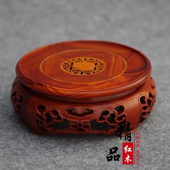 Розовое дерево Красное сандаловое дерево чайник с резьбой ваза для бонсай украшение с изображением Будды круг основание красный сандалово...
