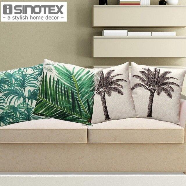 45*45 cm housse de coussin en lin nordique pour canapé chaise cocotier imprimé coussins de siège de voiture décor à la maison 1 PCS/Lot
