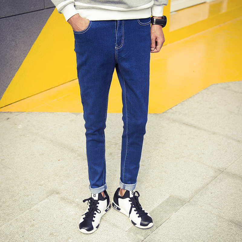 Aliexpress.com : Buy New Arrival Mens Mid Waist Pencil Jeans Pants ...