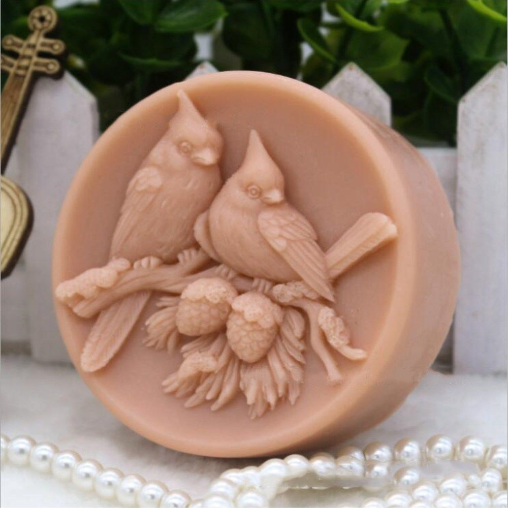 Grainrain Silicone Soap Mold Bird for Melt and Pour Soap Handmade Craft Molds Soap Mold