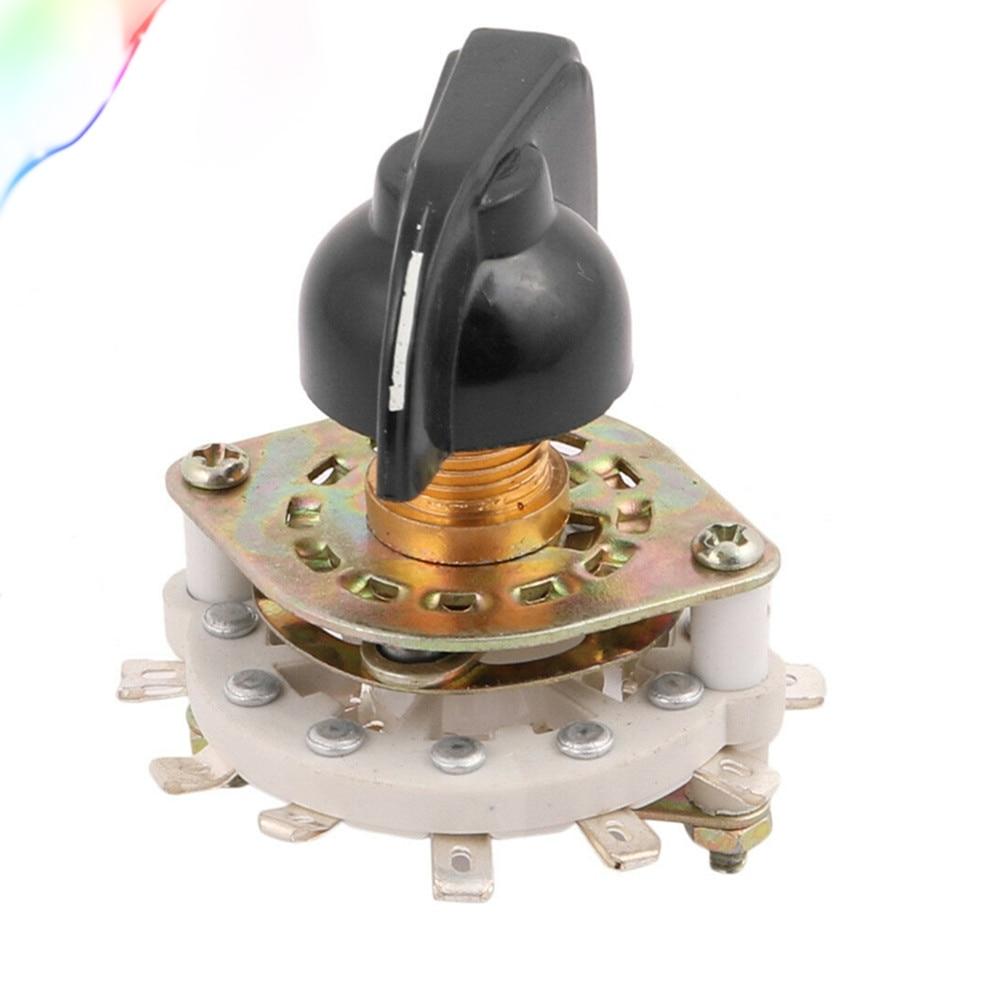 KCZ 1-полюсный 6/7/8/9/10 положение поворотный переключатель полосы канала Селекторный с крышкой