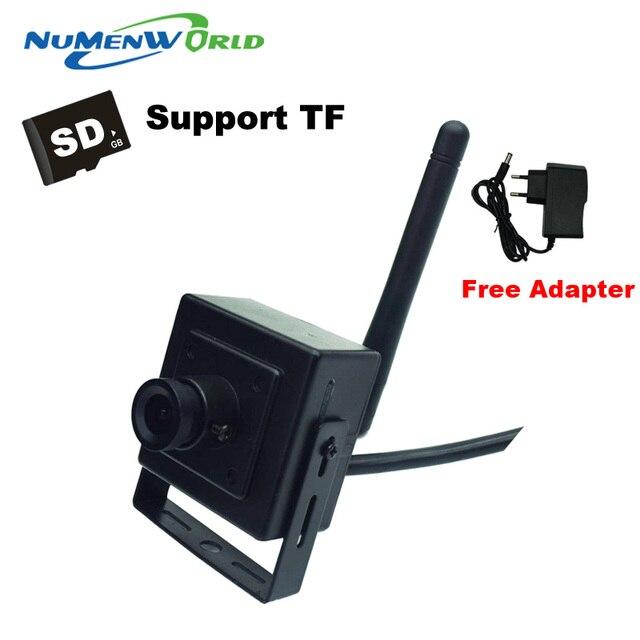 Mini cam 720 P SD HD P2P IP Sem Fio 802.11b/g/n rede wi-fi Câmera IP Micro TF Câmera de Vigilância cartão IOS & Android APP