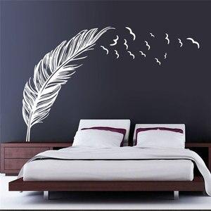 Image 1 - בוהמי סגנון applique רומנטי נוצת קיר מדבקות פנים קישוט חדר שינה סלון פוסטר קיר מדבקות קיר ZM15