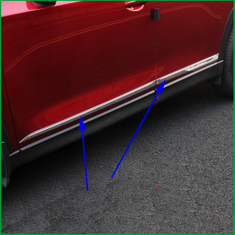 For Mazda CX-5 CX5 2017 2018 ABS Chrome Stainless steel Side Door Body Molding Line Garnish Cover Trims Protector Car Styling
