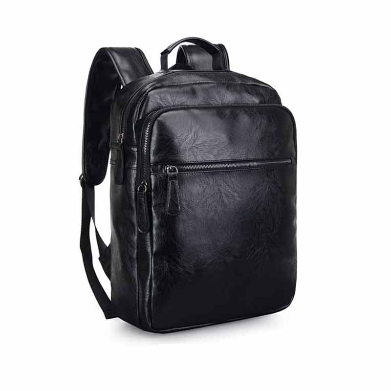Fashion European Style Men Backapck PU Leather Multifunctional Men Shoulder Bags Travel Bags For Male Large Capacity Men BagsFashion European Style Men Backapck PU Leather Multifunctional Men Shoulder Bags Travel Bags For Male Large Capacity Men Bags