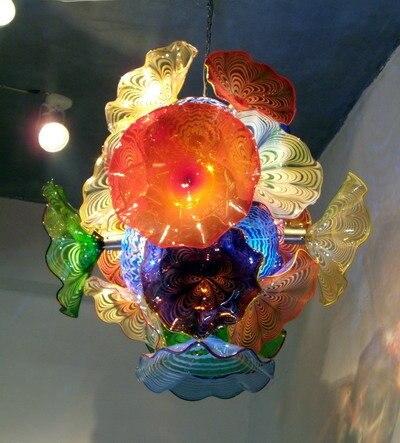 Murano glass flower chandelier for home art decoration colorful murano glass flower chandelier for home art decoration colorful chihuly style led blown glass chandelier lighting aloadofball Images
