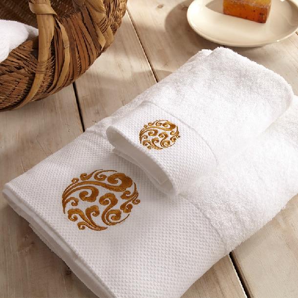 Chrysanthemum Embroidered Bath Towels