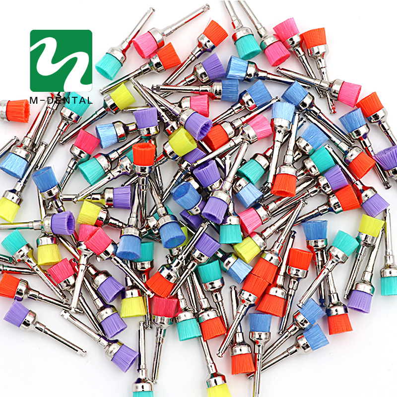 50 pcs Colorful Dental Polishing Brush Polisher Prophy Rubber Cup Latch Nylon For Dentistry Lab 100 pcs box dental lab materials rubber polishing granule green brown black grey