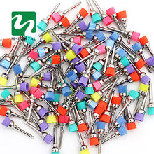 50 pcs Colorful Dental Polishing Brush Polisher Prophy Rubber Cup Latch Nylon For Dentistry Lab