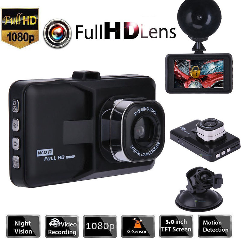 New DVR Car Dash Camera Driving Video Recorder With 1080P Car Camera Wide Angle Driving Recorder HD Dash Cam LCD Car-detector цена