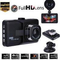 Nova DVR Carro Traço Câmera Condução Gravador de Vídeo Com 1080 P Câmera do carro Gravador de Condução Grande Angular HD Traço Cam LCD carro-detector