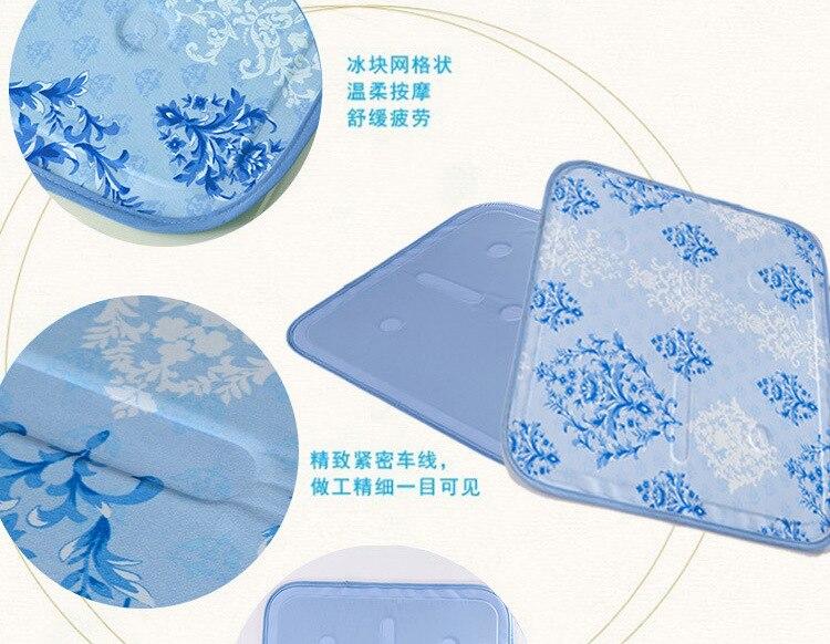 42X42 cm Gel de refroidissement coussin de siège été glace siège tapis Pet glace pad ordinateur portable tapis de refroidissement