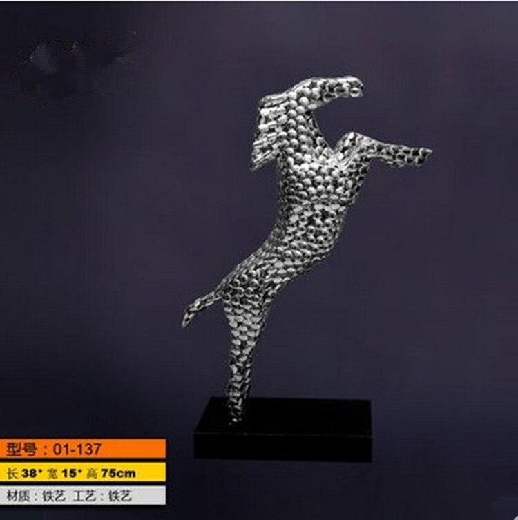 Cheval statue accessoires pour la maison résine artisanat ornements décor cadeaux