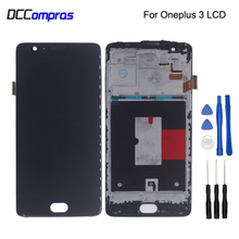 For Oneplus 3 A3000 A3003 LCD Display Touch Screen With Frame Digitizer Assembly For Oneplus 3 3T A3010 Screen LCD Display for oppo oneplus 3 a3000 rai lcd display with touch screen digitizer assembly by free dhl 100% warranty 10pc lot