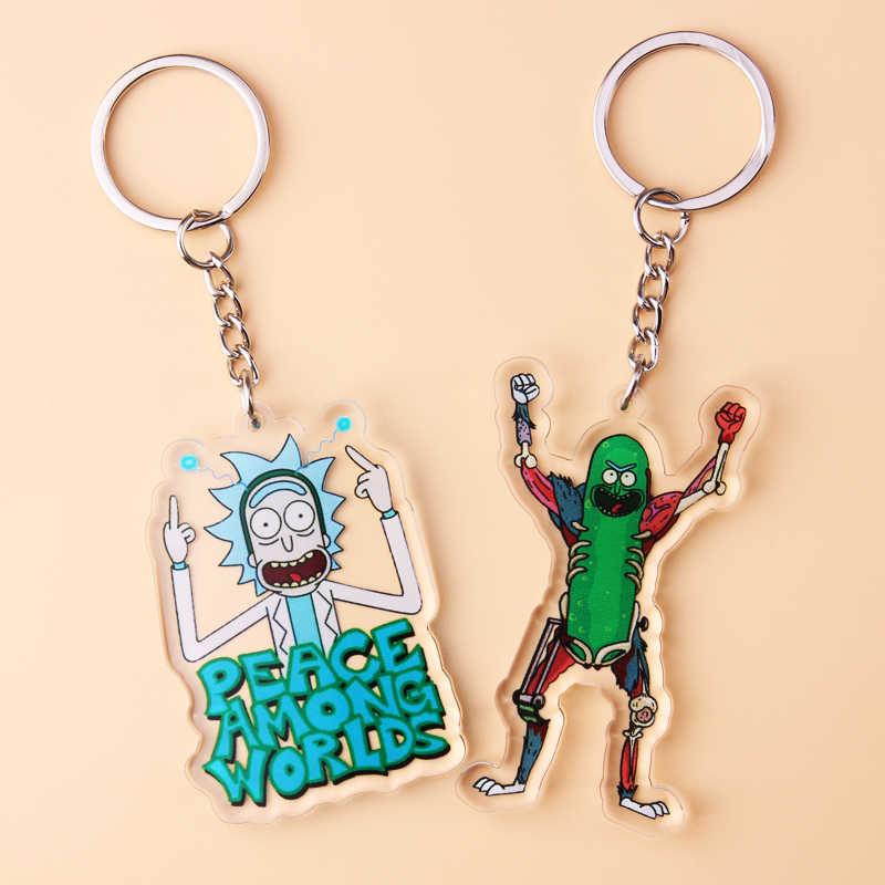 Porta-chaves dos desenhos animados dos desenhos animados dos desenhos animados dos desenhos animados de rick e morty chaveiro