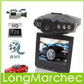 "5PCS Promotion ! 2.5"" TFT HD Car Black Box DVR video recorder Camera Camcorder  with IR LED  Night vision"