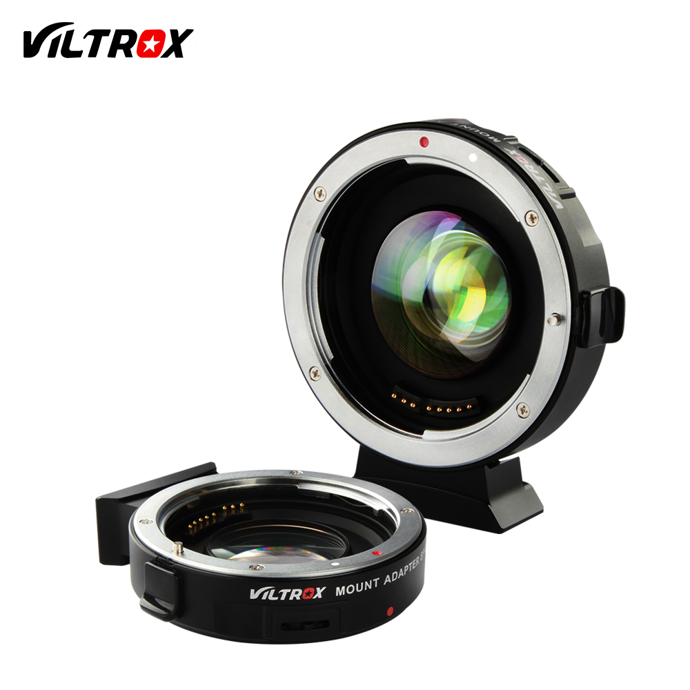 VILTROX EF-M2 0.71x Electronic Auto Focus Reducer Speed Booster Turbo Adapter for Canon Lens to M4/3 camera GH4 GH5 GF6 GX7 OM-D viltrox ef nex iii auto focus adapter for canon eos ef ef s lens to for sony e nex a7 a7r a7sii a7ii a6300 a6000 full frame
