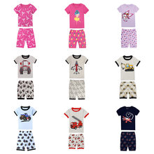 summer children's pajamas kids sleepwear boys cars truck airplane clothing girls ballet unicorn eiffel tower pyjamas baby pijama(China)