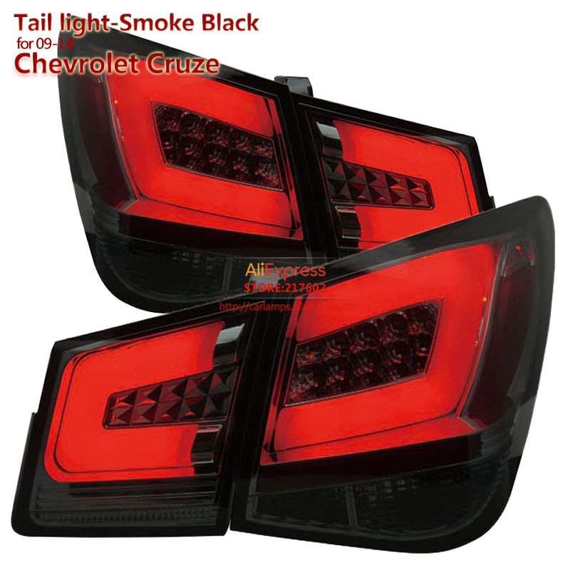 SONAR brand for Chevrolet Cruze LED Tail lights Assembly 2009- Smoke Black Housing Top Quality Easy Installation