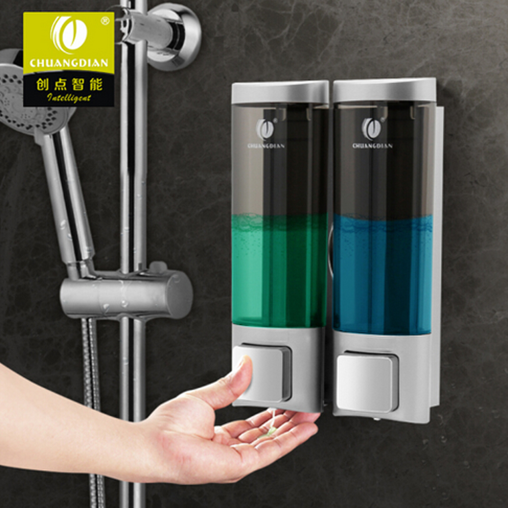 CHUANGDIAN 200ml Double Liquid Soap Dispenser Wall Mount Lavatory Bath Shower Accessories 3 Color