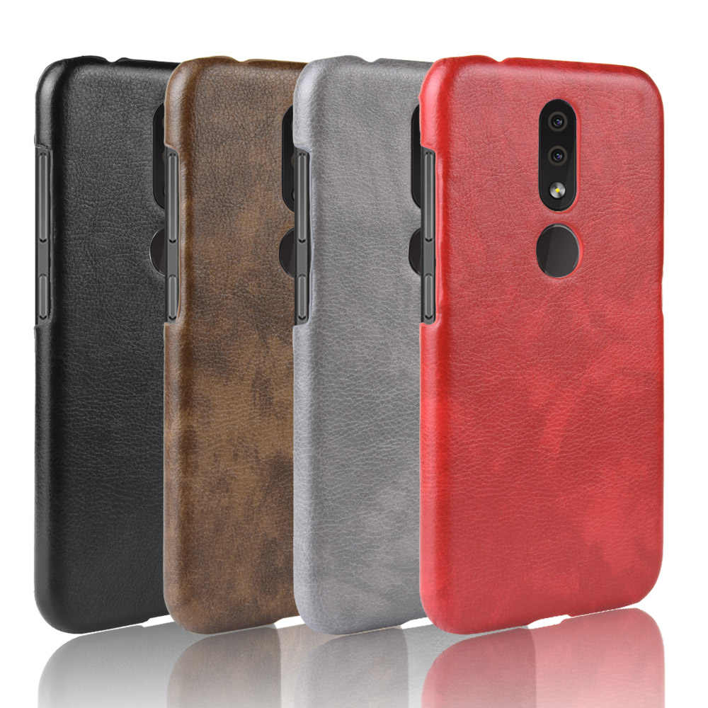 Luxury Litchi Leather Back Hard Case for Nokia 4.2 2.1 3.1 3.2 5.1 6.1 7.1 8.1 Plus X5 X6 X7 1 Plus 9 Pureview Cover Phone Cases