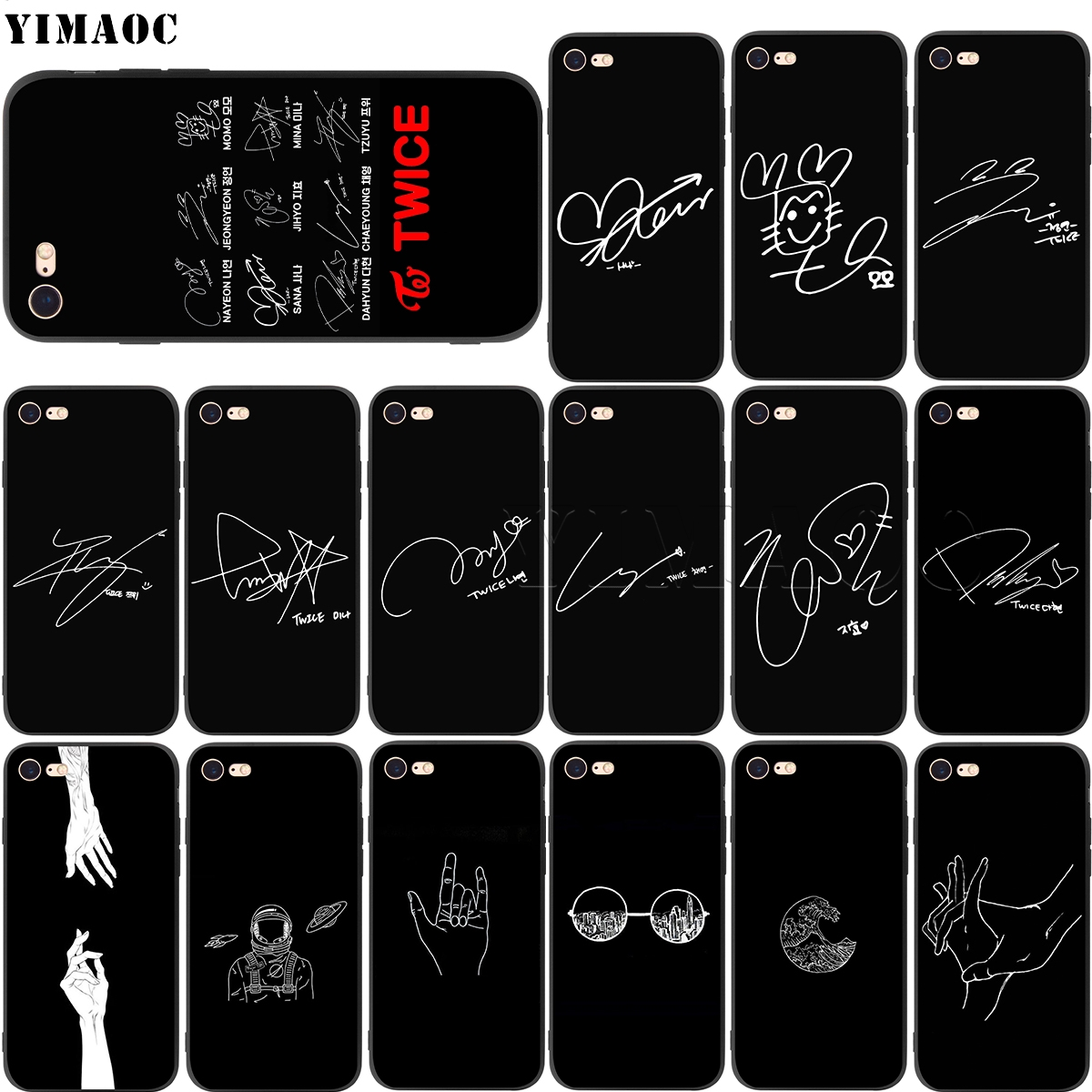 Мягкий силиконовый чехол YIMAOC Twice Signature для iPhone 11 Pro XS Max XR X 8 7 6 6S Plus 5 5S se image