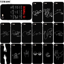YIMAOC Twice Signature Soft Silicone Case for iPhon