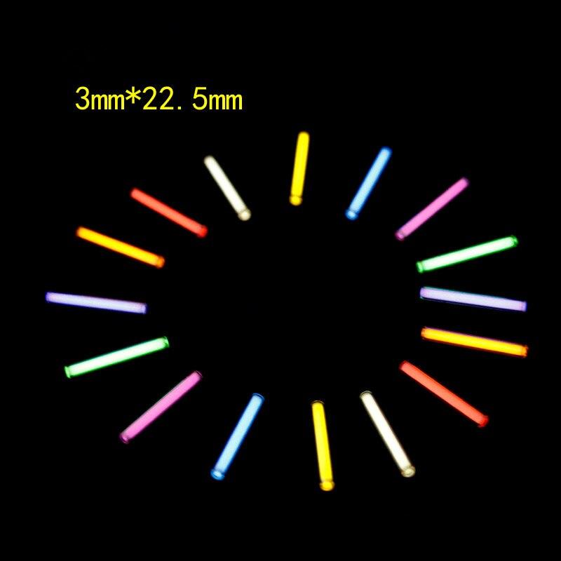 1 pc 3mm * 22.5mm Tritium Gaz Tube Automatique Lumière 25 Ans Tritium Trousseau Clé Anneau Fluorescent Tube de sauvetage D'urgence Lumières