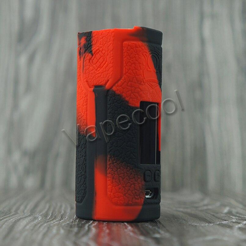 50pcs SINUOUS P80 vape mod sleeve texture protective soft rubber silicone Wismec SINUOUS P80 case Cover