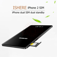 Ultra Thin Metal Frame Dual Sim Dual Standby Adapter SIM Plus K2 With Call Text Functions