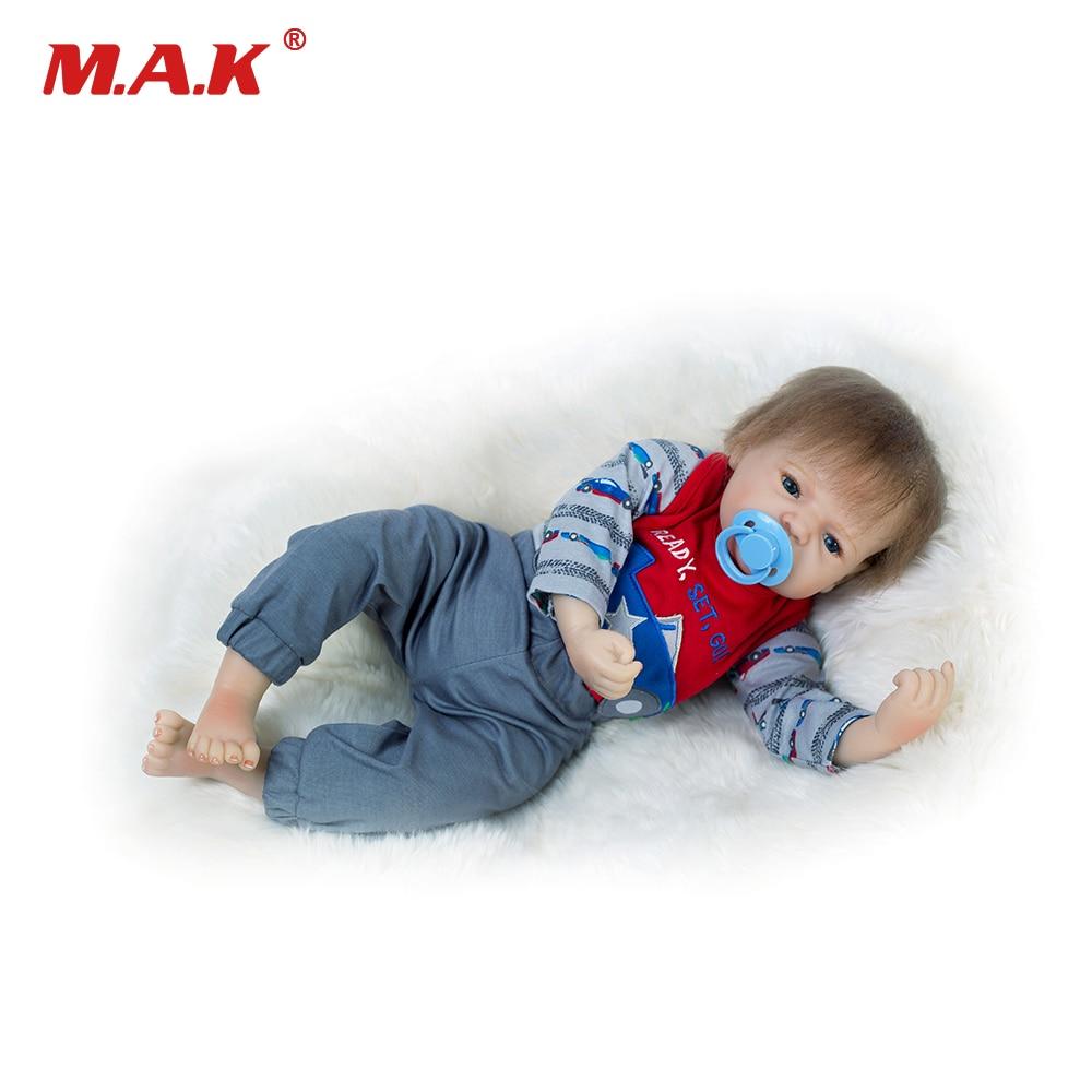 Новые 20 мягкий силиконовый Bebe Кукла реборн 50 см жив для маленьких мальчиков возрождается куклы ручной работы Boneca игрушки для Для детей на д...