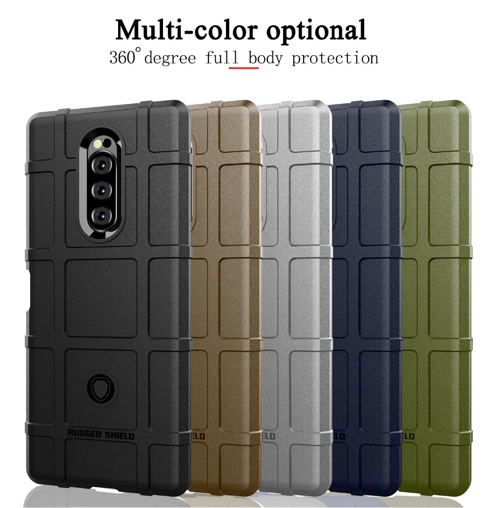 For Sony Xperia XZ4 Compact Case Silicone Phone Case For Sony Xperia XZ4 Case Rugged Armor Shockproof Dous Cover