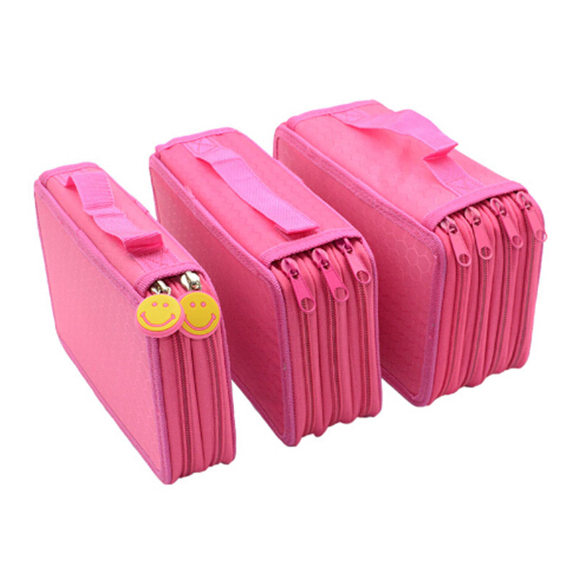 3 Layer Zipper Pencil Case Large Bag Papelaria For School Supplies Girls Boys Stationery Pink Pencil Box Case Pouch Pencilcase pencil case vehicle pen pouch bag with combination lock boys double zipper camouflage canvas large school pencil box military
