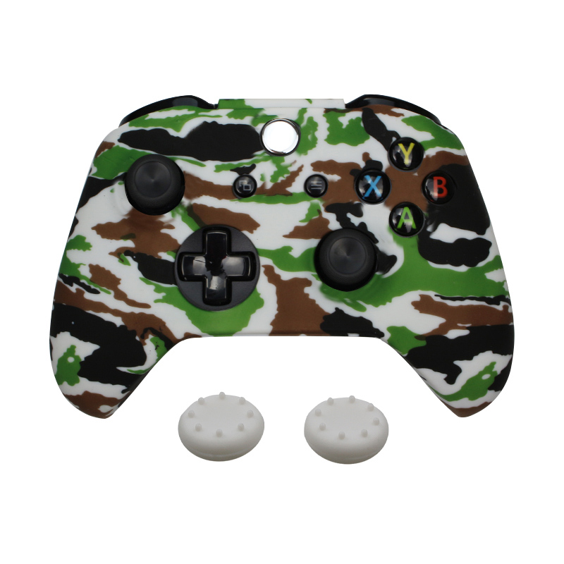 For Xbox One S Controller Gamepad Camo Silicone Rubber Skin Case Protective Cover For Xbox One Slim Joystick