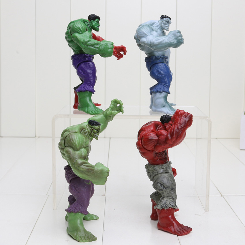 """4Pcs//set The Avengers Hulk Green Red 4.5/"""" PVC Action Figure Figurine Toys Gifts"""