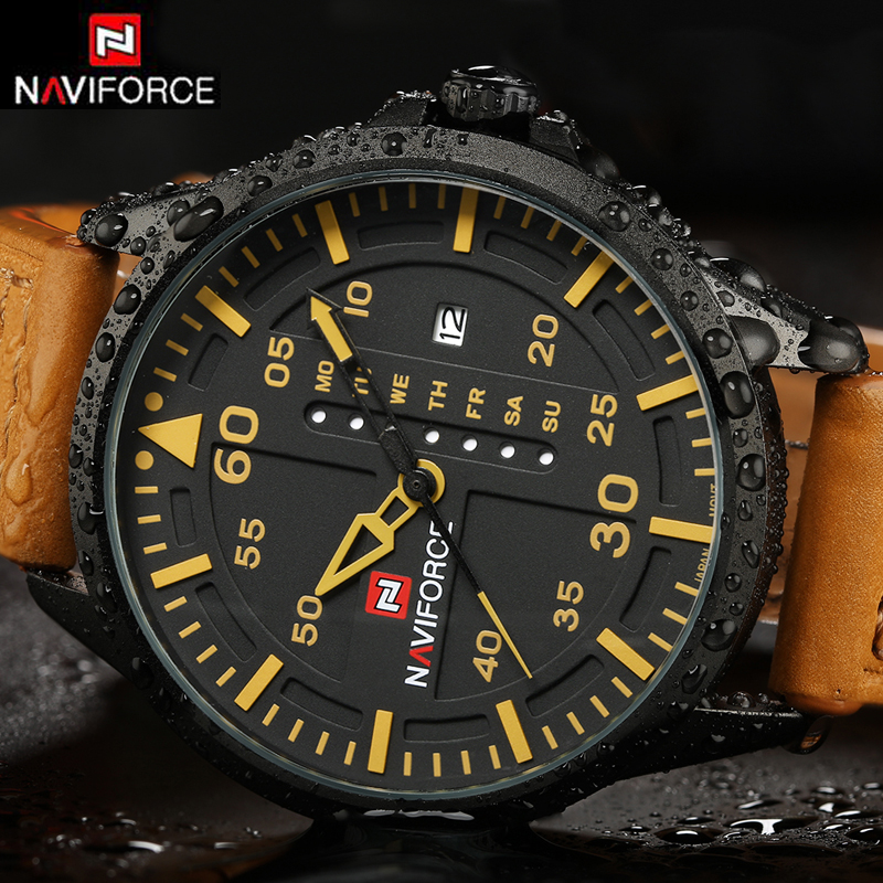 NAVIFORCE Luxury Brand Date Japan Movt Men Quartz Casual Watch Army Military Sports Watch Men Watches Male Leather Clock 2016 naviforce luxury brand date japan movement men quartz casual watch army military sports watch men watches male leather clock