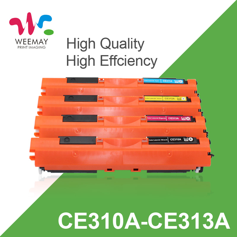 CE310 CE310A -313A 126A 126 Compatible Color Toner Cartridge For HP LaserJet Pro CP1025 M275 100 Color MFP M175a M175nw Printer 1 pcs cf210a cf211a cf212a cf213a 131a compatible color toner cartridge for hp laserjet pro 200color m251n m251nw m276n m276nw