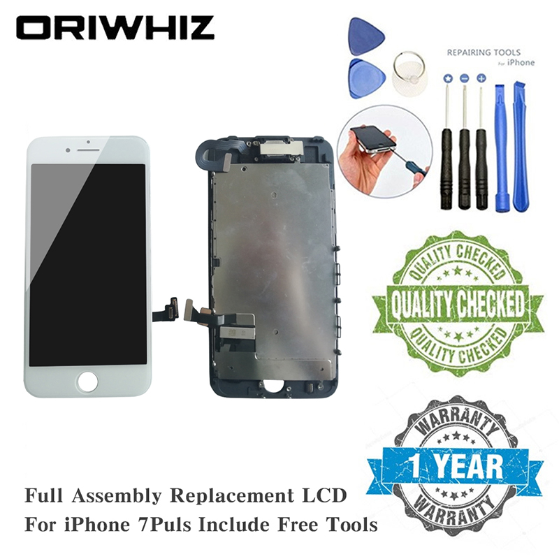 ORIWHIZ For iPhone 7 Plus Screen Replacement Assembly LCD Touch Digitizer Display with Front Camera Facing Proximity SensorORIWHIZ For iPhone 7 Plus Screen Replacement Assembly LCD Touch Digitizer Display with Front Camera Facing Proximity Sensor