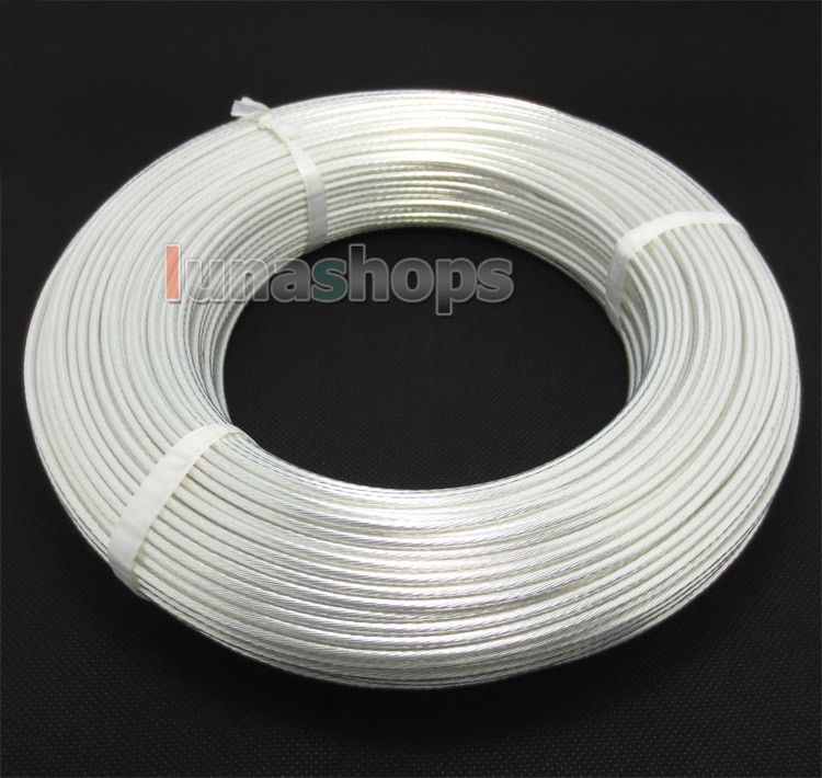 LN004362 10m Acrolink Silver Plated OCC Signal Teflon Wire Cable 2mm2 Dia 2 4mm For DIY