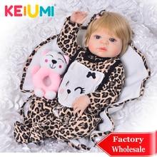 KEIUMI 23 ''Reborn Girl реалистичные куклы новорожденных детей куклы полное тело силиконовый винил восхитительный 57 см живой Boneca Reborn подарок на день рождения