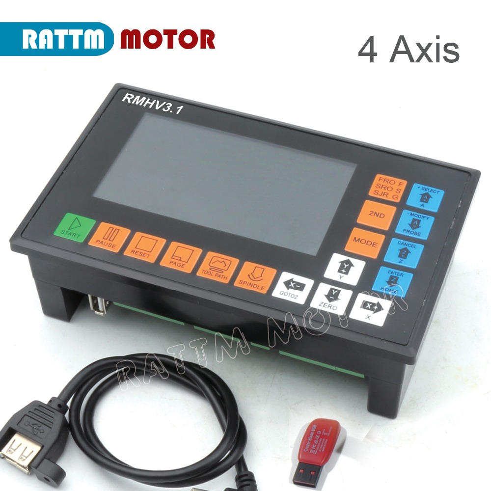 UA EU Delivery 4 Axis PLC Controller 500KHz off line operation for CNC Router Engraving Milling