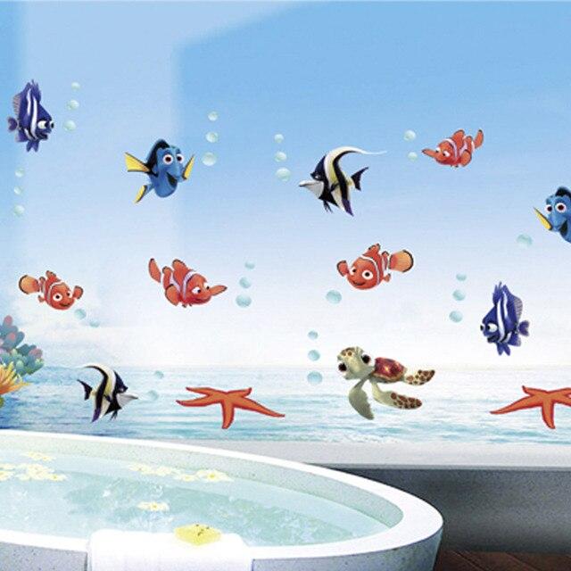 Cartoon meerestiere Fisch NEMO startseite decals wandaufkleber ...