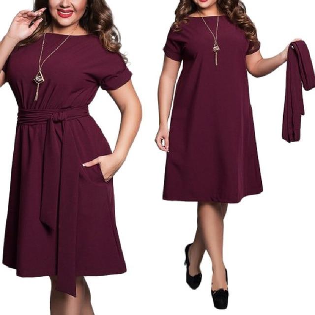 Элегантные сексуальные шифоновые летние женские платья большого размера платье 2018 Плюс Размер Женская одежда L-6xl платье повседневное с круглым вырезом облегающее платье