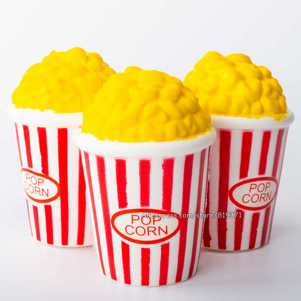 Creative Soft Squishy Popcorn Slow Rising Squeeze Kids Fun Toy Stress Reliever Decor Squishy Charming Gift Toys For Children