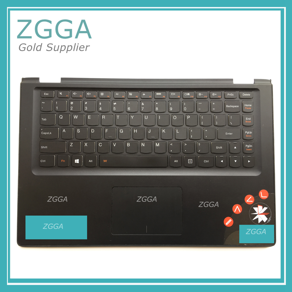 Genuine Original Palmrest For Lenovo Ideapad Yoga 2 13 Cover US Keyboard With Bezel Touchpad Backlit Black 20pcs lot 2014n
