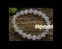 Free Shipping Discount Wholesale High Quality Natural Genuine Rainbow Moonstone Stretch Bracelet Round Beads 8mm