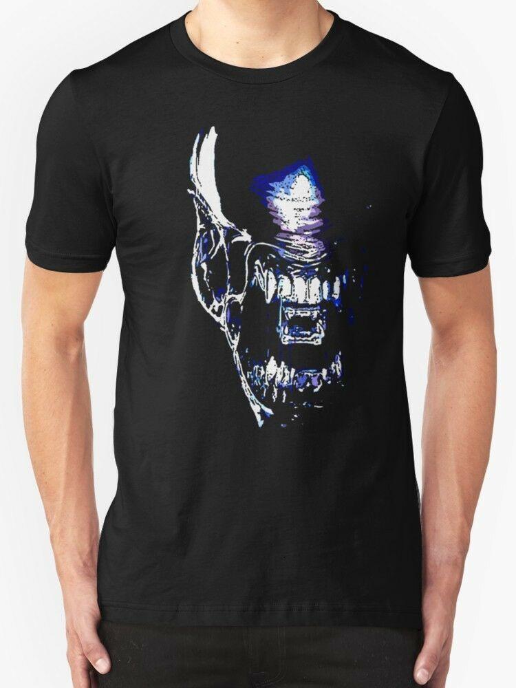 Xenomorph T Shirt Aliens Film Movie Sci-Fi Horror Cult Newest O-Neck Cotton Comfortable T-Shirt Homme Tee